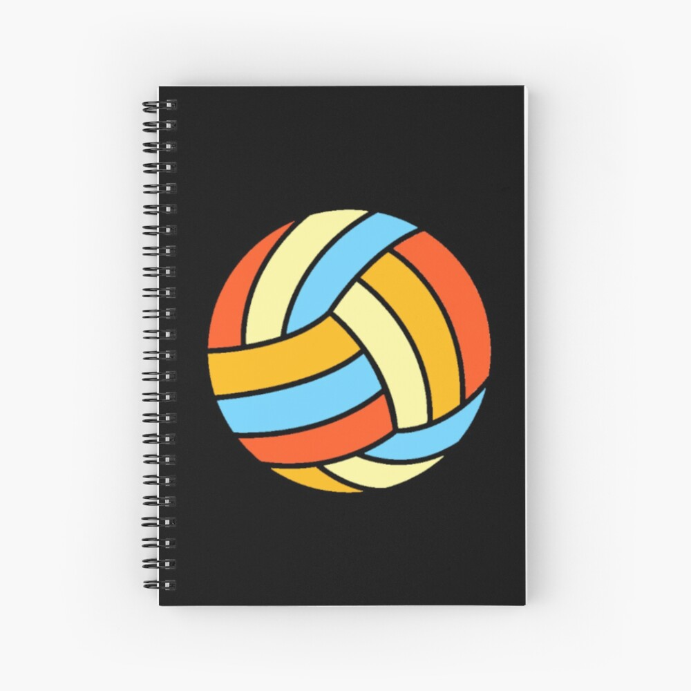 Vintage Cool Volleyball Retro Colorful Red Blue Ball Cute Sport Design Spiral Notebook Volleyball Sport Bal In 2020 Sports Design Red And Blue Notebook Cover Design