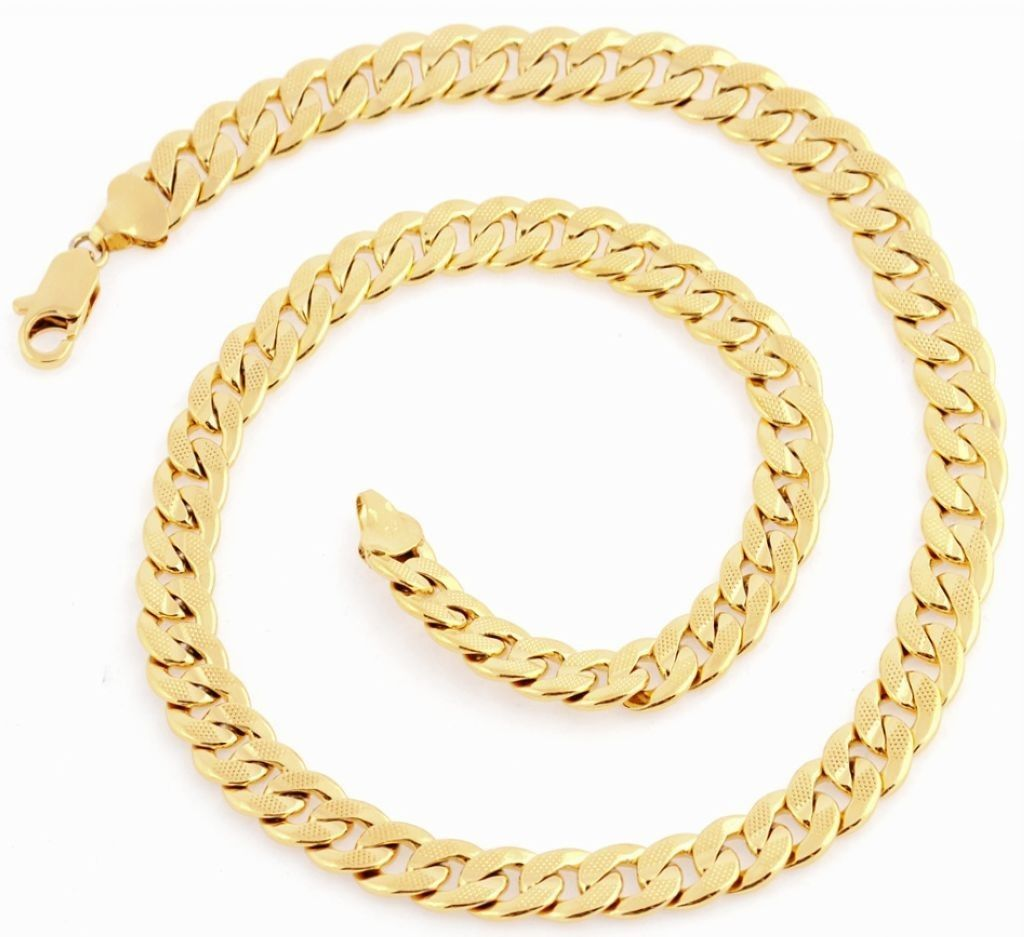 coated pin chains for women gold chain and pure rodium men