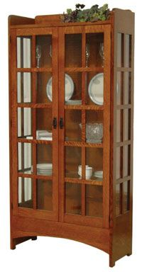 Hand Crafted Shaker And Mission Furniture Online Outlet Store: Mission  Display Cabinet: Oak