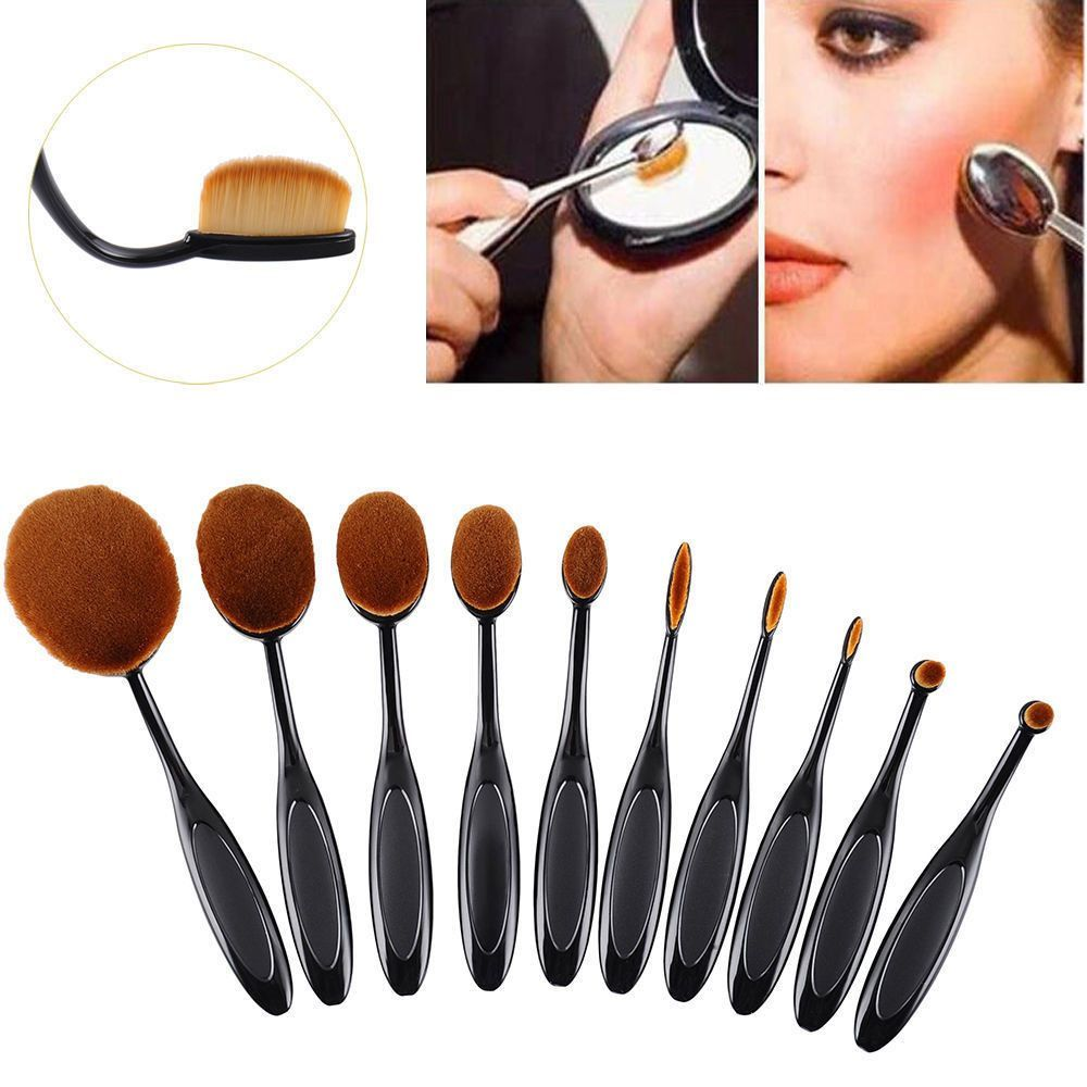 10pcs Beauty Toothbrush Shaped Foundation Power Makeup