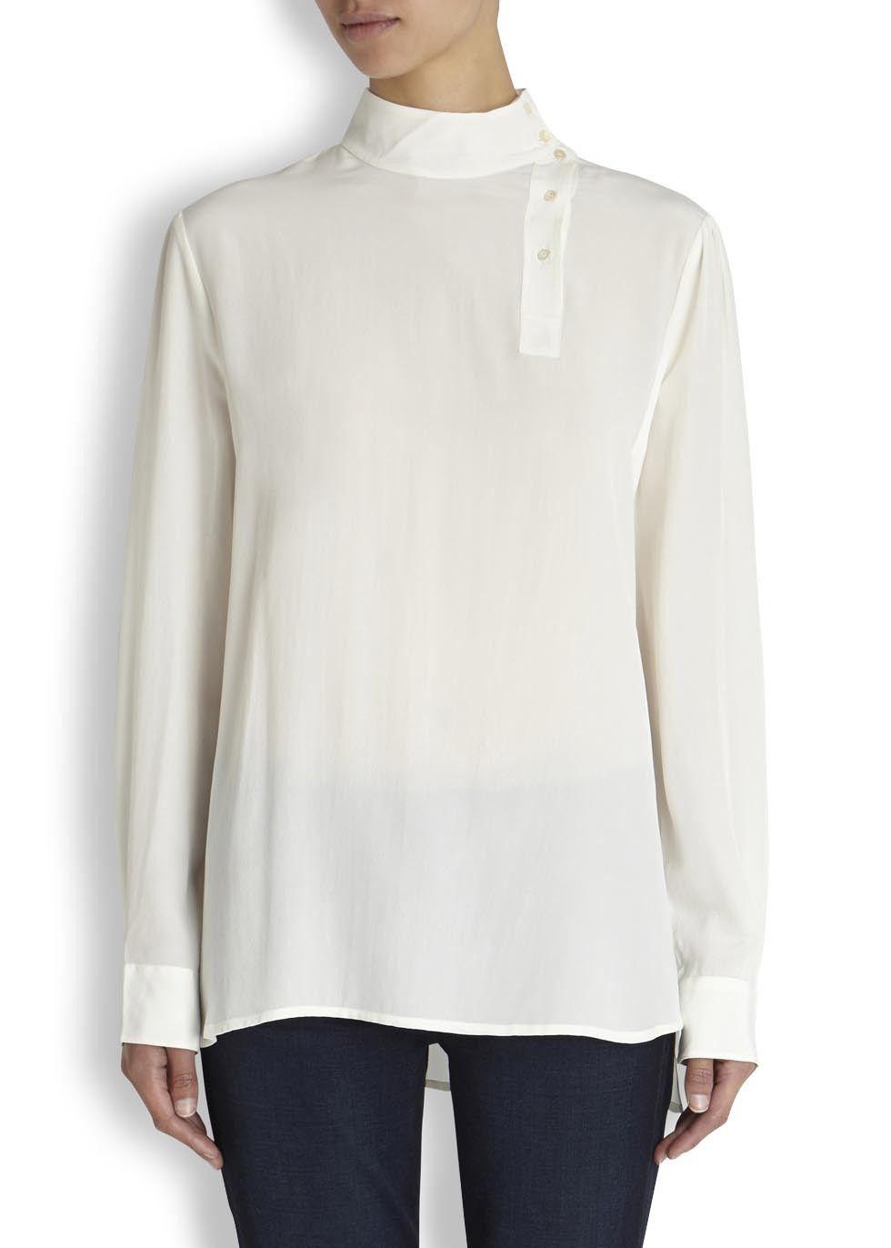 CURRENT/ELLIOTT X Charlotte Gainsbourg silk blouse