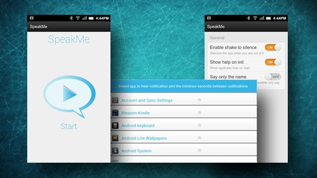 SpeakMe for Android Speaks Notifications Aloud, Lets You