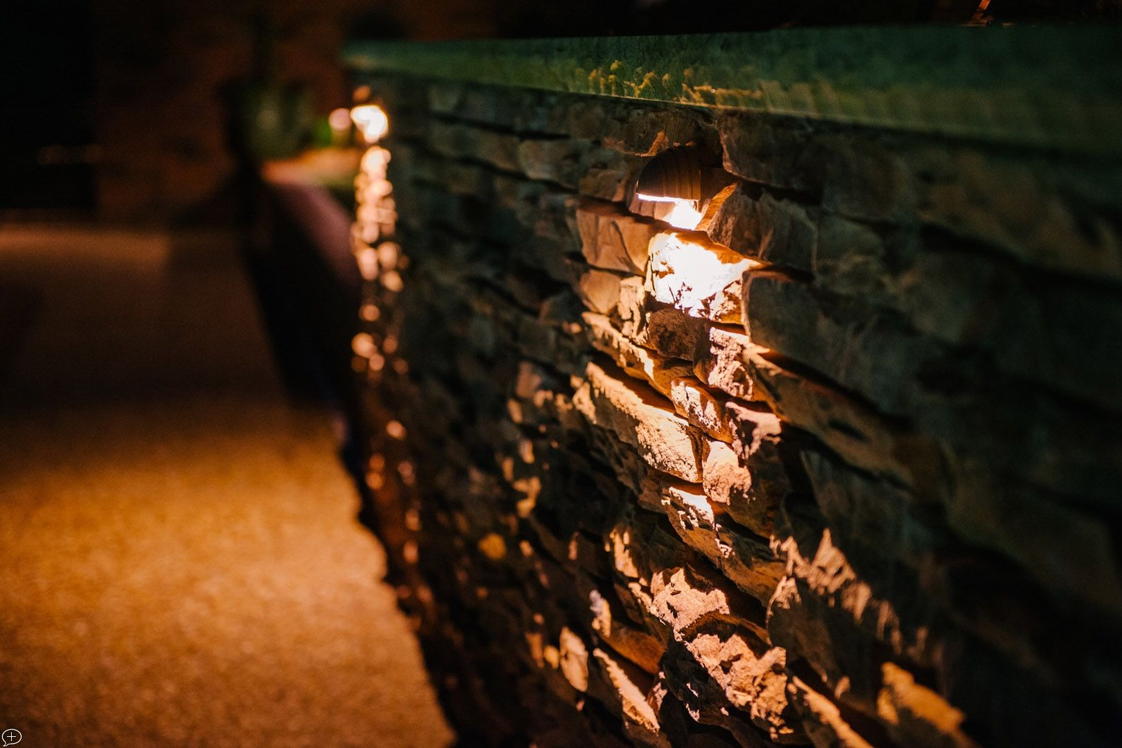 Wall wash lighting is a perfect way to illuminate patios with