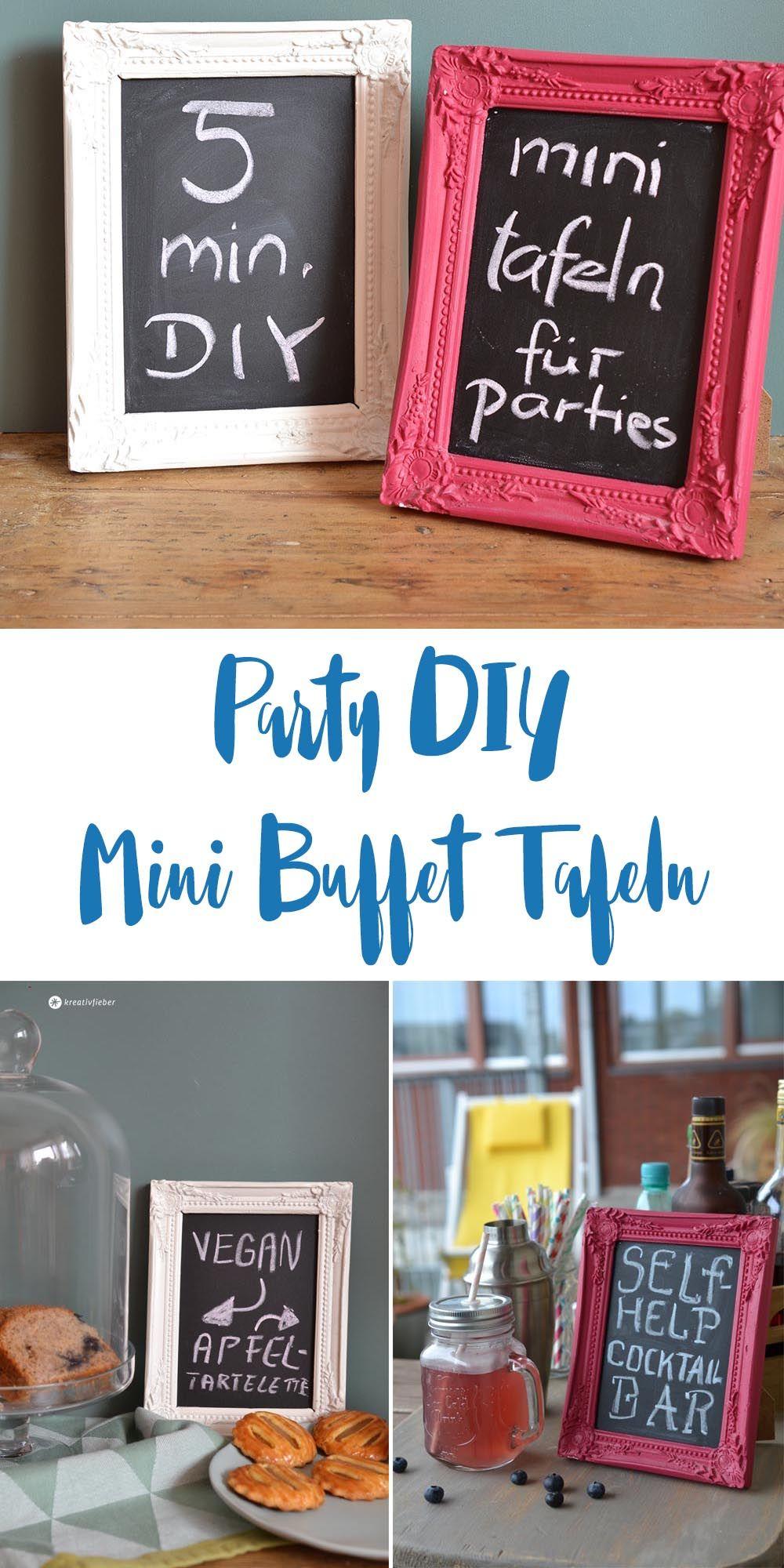 DIY Mini Tafeln für Parties und Buffets #dressesforengagementparty