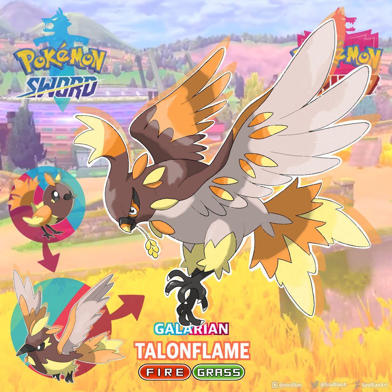 Regional Fletchling Fletchinder Talonflame Pokemon Deviantart Pokemon Pokemon Breeds