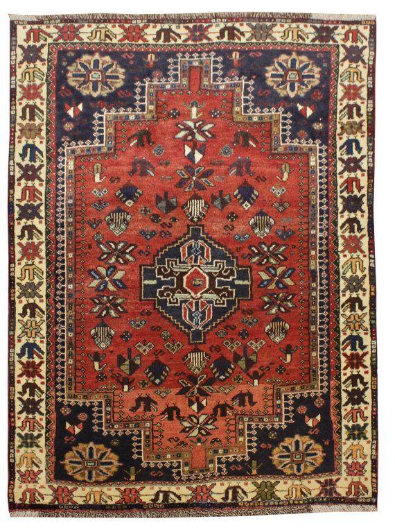 Tappeto persiano antico di cm 173 x 128 Kashkai di RugPassion