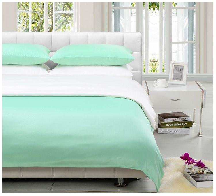 Attractive Modal Home Textile Bedding Set Plain Piece ... Green ComforterMint ...