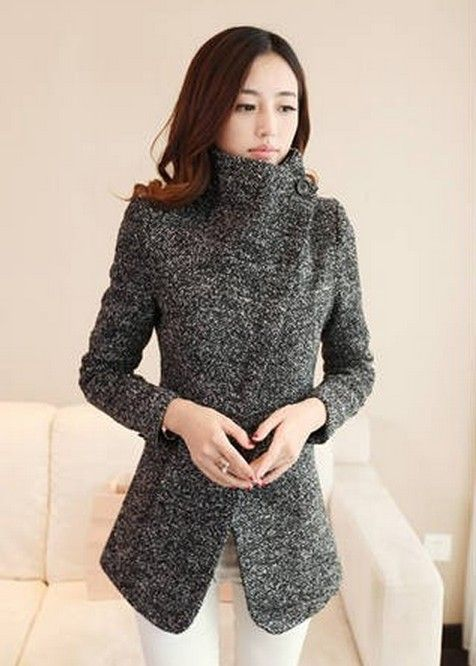 Korean Style Turn Collar Single Breasted Long Coat--Click the picture can place an order,we support wholesale outerwear. #shoes #wholesale #fashion #lovely #cheap #Korean #dress #sexy #clothes