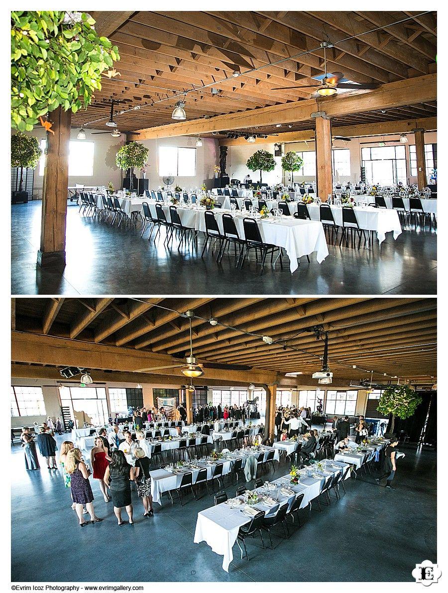 Communal Dinner Tables For Wedding Reception At Castaway Portland