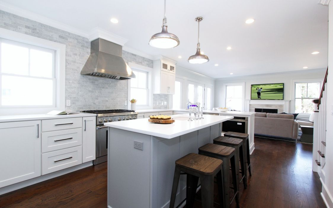 Gorgeous open concept chef\'s kitchen in newly built Darien, CT ...