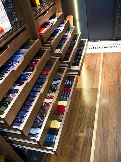Ties... So need a walk-in closet with this kind of organization for my ties