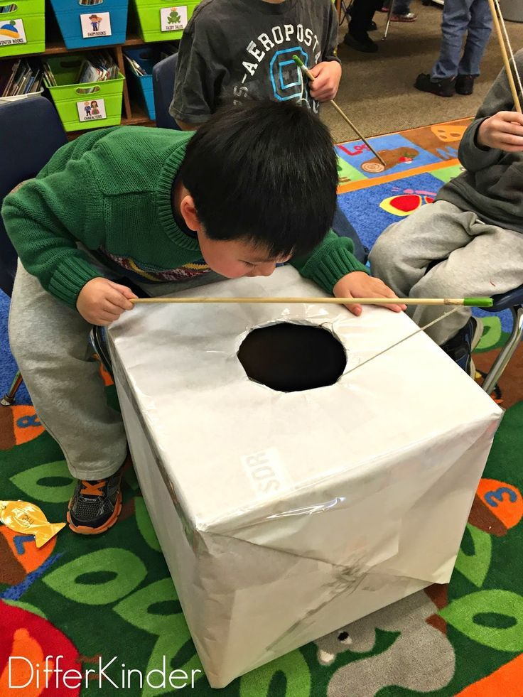 """Setting Up to Play Differentiated """"Ice Fishing"""" for Numbers (from Marsha McGuire, A Differentiated Kindergarten)"""