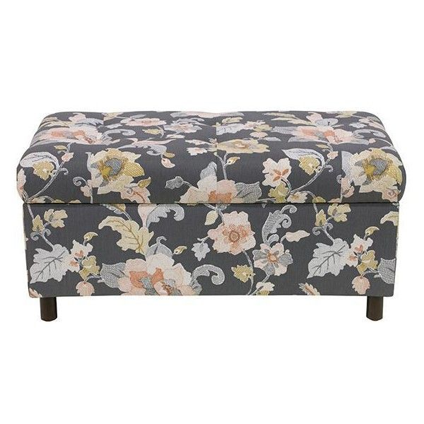 Langley Custom Upholstered Storage Bench Seasonal 249 Liked On Polyvore Featuring