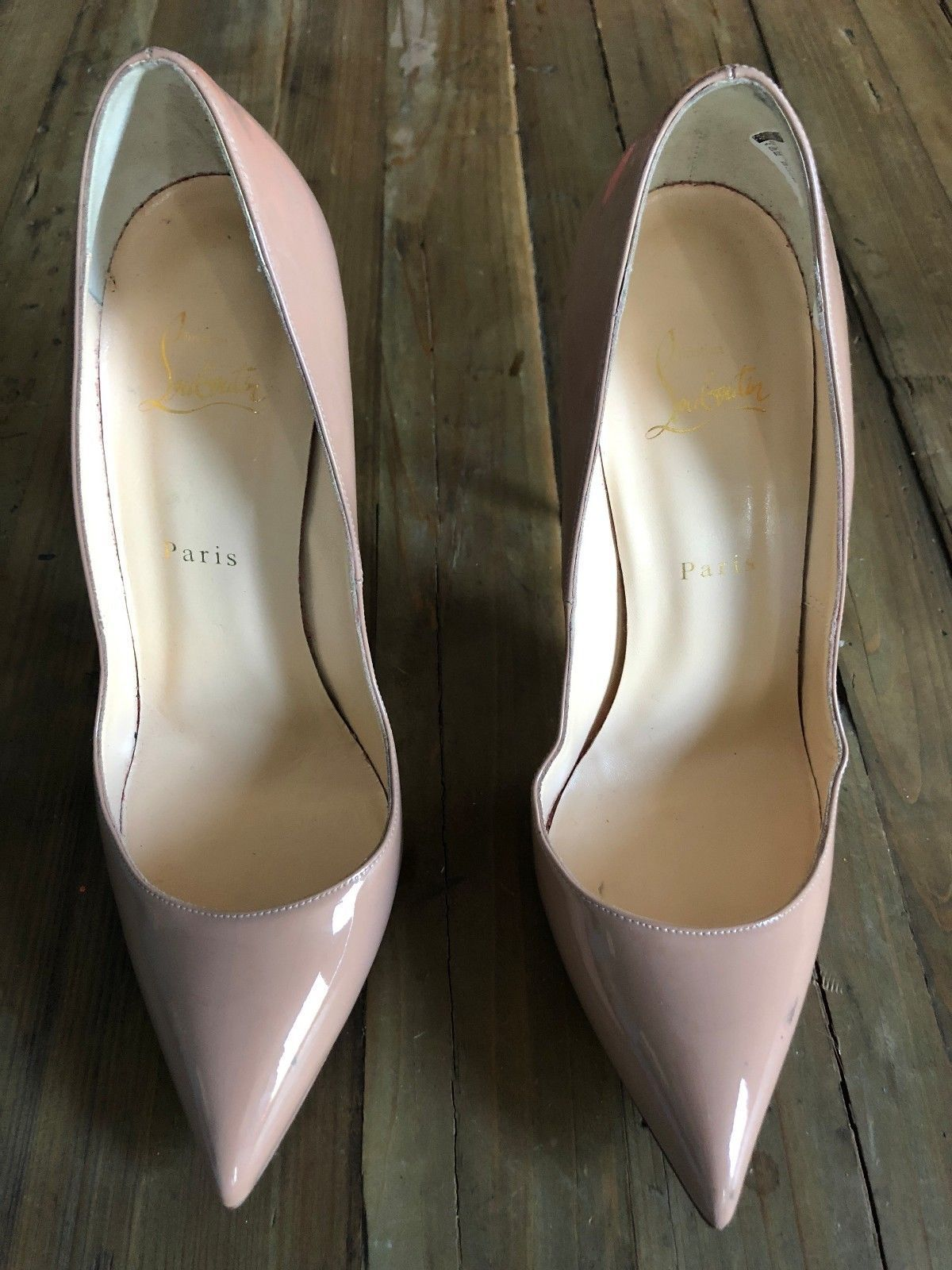3b503497f82 CHRISTIAN LOUBOUTIN Nude Patent Leather Pump in Size 41 | Fashion I ...