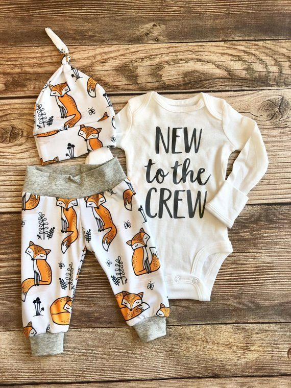 Photo of New To The Crew Sly Fox, Baby Boy Coming Home Outfit, Going Home Outfit, Fox Baby, Baby Boy, Fox Theme, READY TO SHIP name outfit