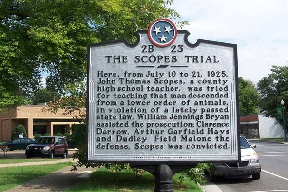 Scopes Trial, Tennessee | Scopes trial 1925 | Tennessee, Us