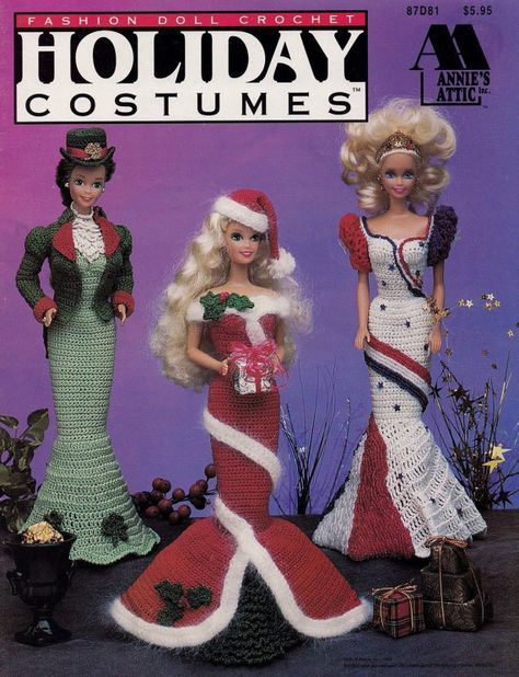 Holiday Costumes, Annies Attic Fashion Doll Crochet Pattern 87D81 ...
