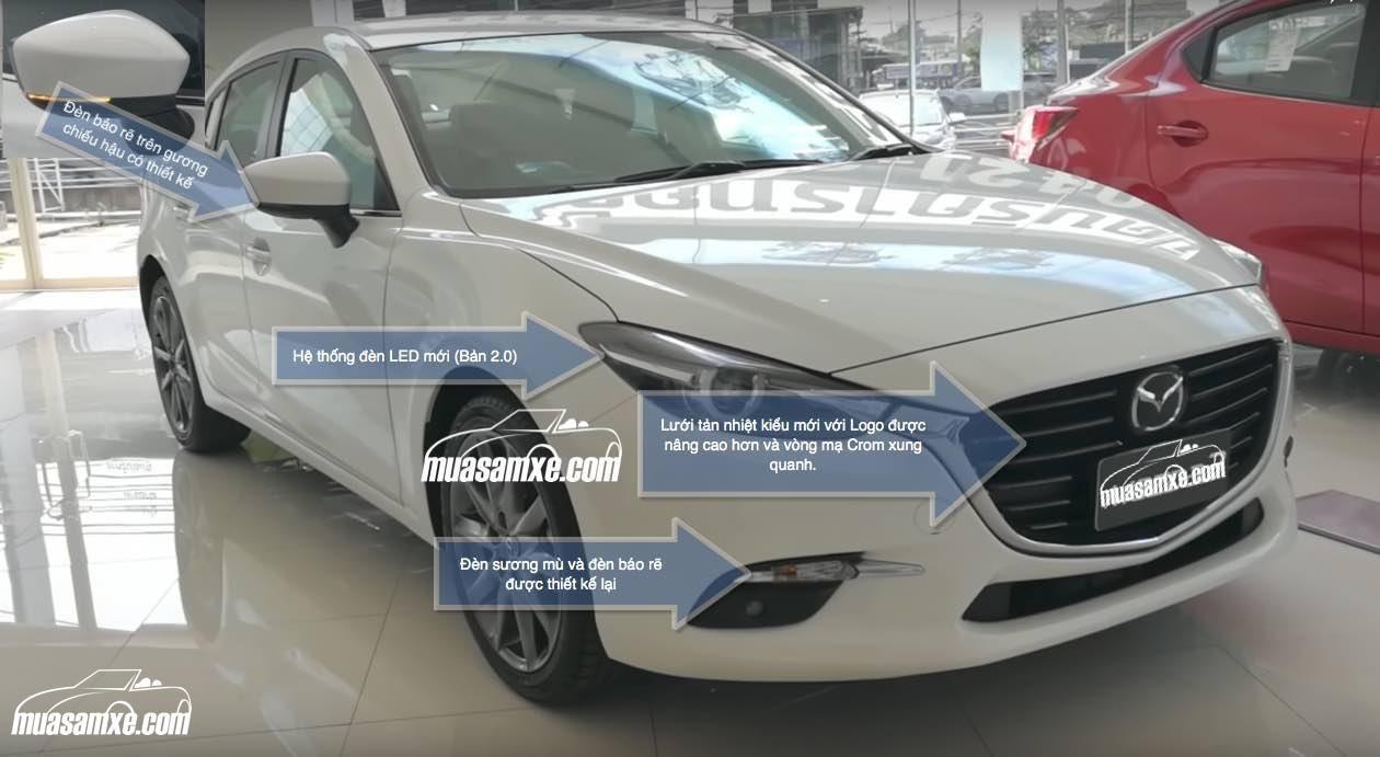 Đánh giá những điểm mới trên Mazda3 2017 Facelift mới ra mắt tại Việt Nam với giá bán từ 680 triệu đồng dành cho phiên bản Sedan và 715 triệu đồng dành cho phiên bản Hatchback. Xem chi tiết những điểm mới của Mazda 3 2017 ở đây https://muasamxe.com/mazda3-2017-facelift-chuan-bi-ra-mat-tai-viet-nam-co-gi-moi/