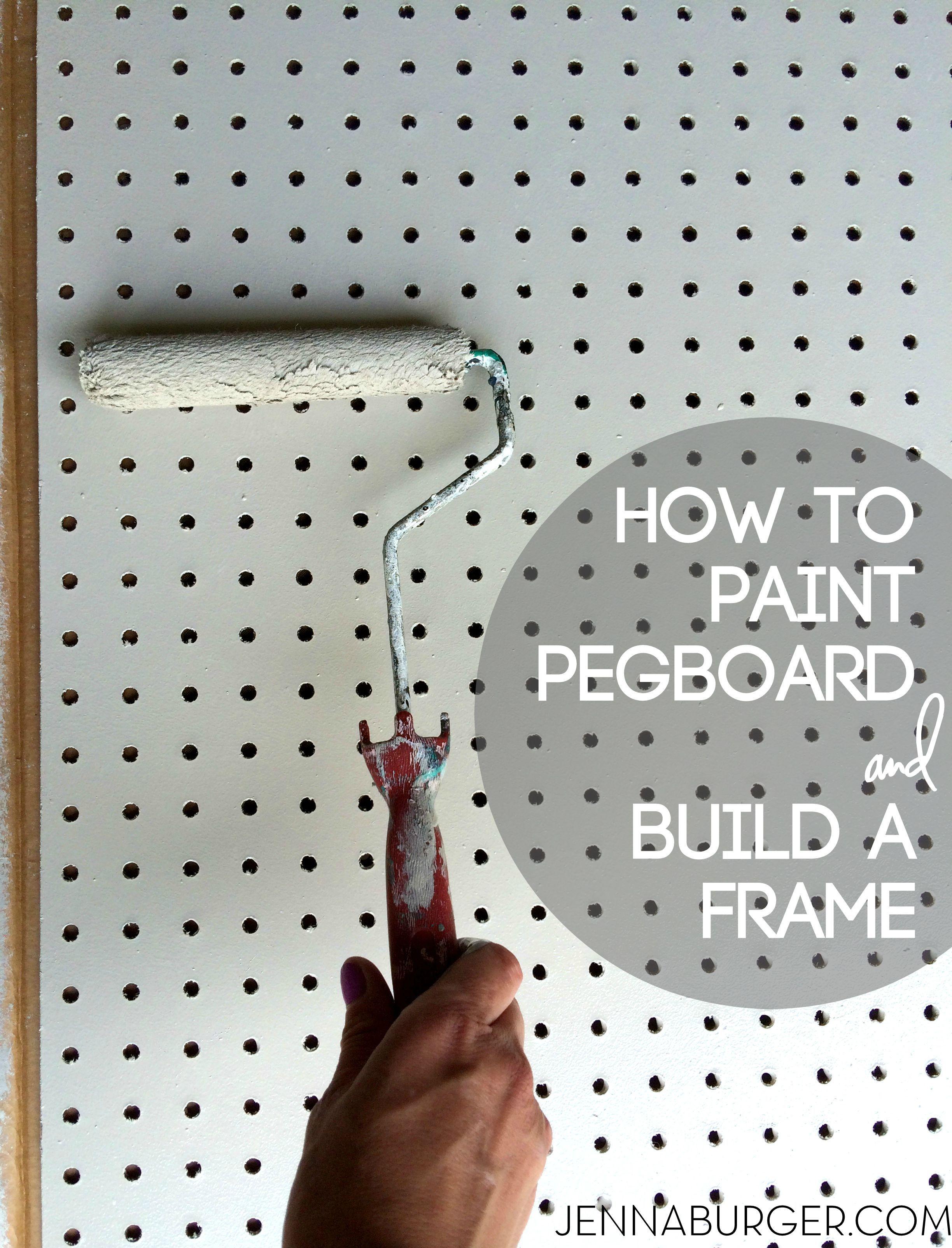DIY: How-To Paint Pegboard + Erstellen und Installieren eines Frame Surround. Steckbrett ist ein …