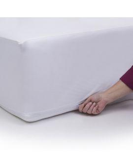 Anti Allergy 100 Cotton Zipped Mattress Protector Fully Encased Non Quilted Mattress Protector Mattress Pillow Protectors