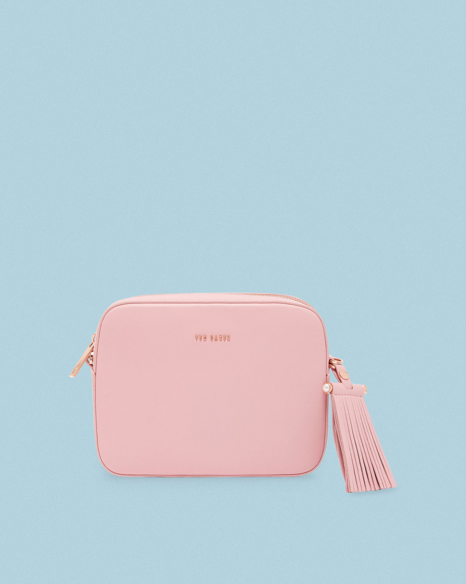 b6248fee61 Ted Baker Tassel detail leather camera bag Dusky Pink | Products ...