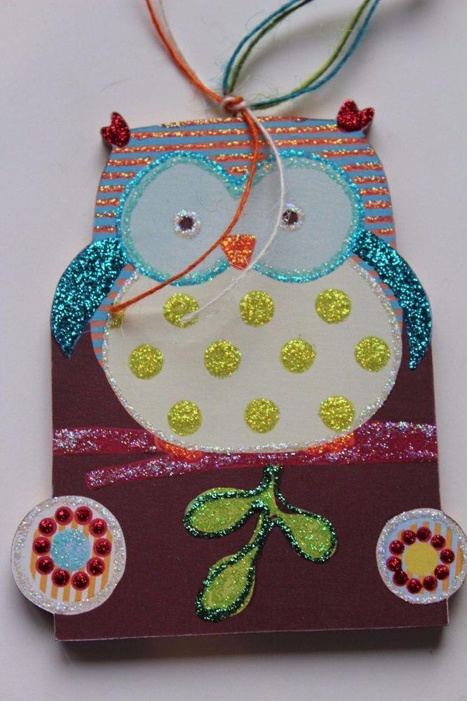 Spring Woodland Owl Signed Lichtenstein Wood Slice Easter Christmas Ornament