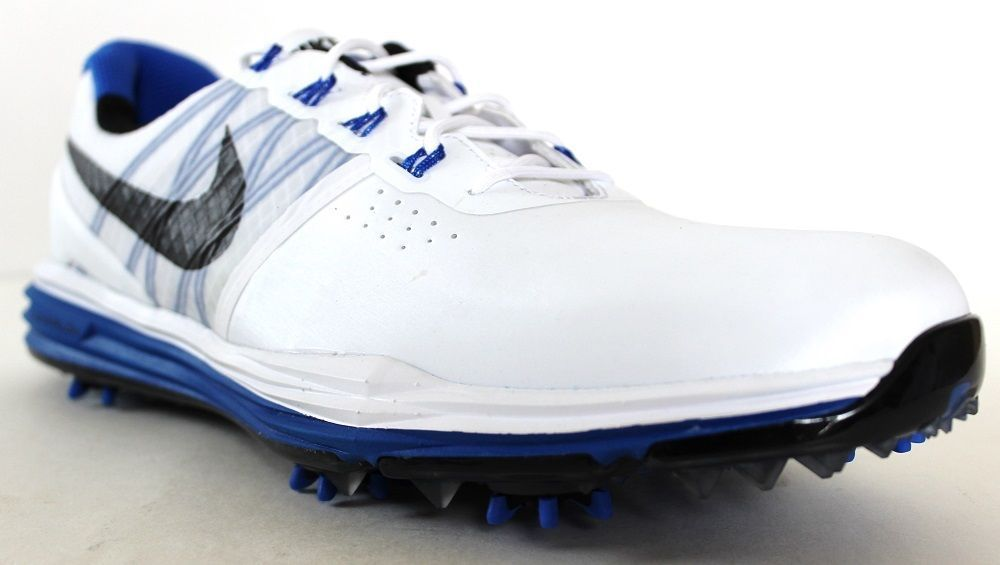 6f31de1854a7 Nike Men s Lunar Control 3 Golf Shoes 704665 100 White Blue Black  Nike