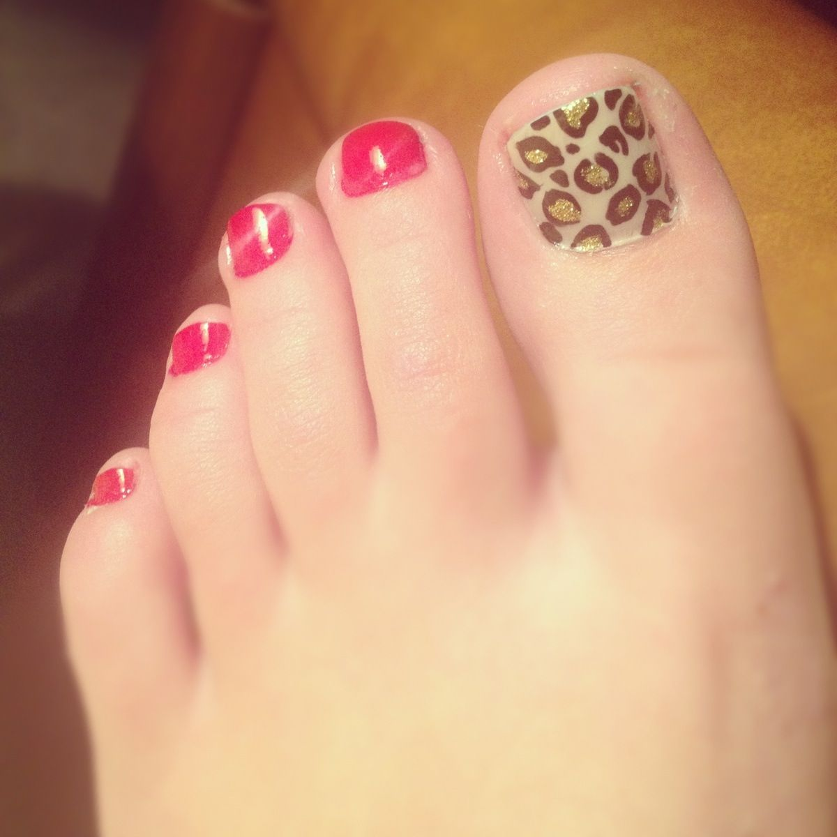 Cheetah Print Toes Toe Nails Nails Fun Nails