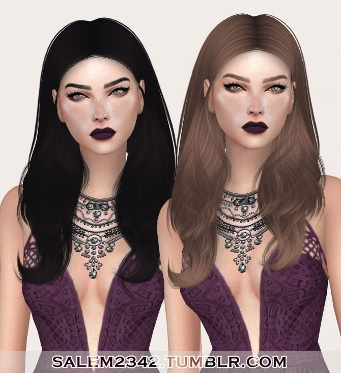 Ade Viola Hair Retexture at Salem2342 via Sims 4 Updates
