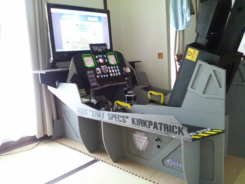 Not just a great flight sim-pit; but all done with hand tools! Great! (found)