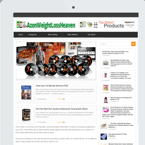 Azon Weight Loss Heaven – TOP Amazon Review Theme in the Weight Loss Niche Already Filled with More Then 1200 Products, ready for You to Go