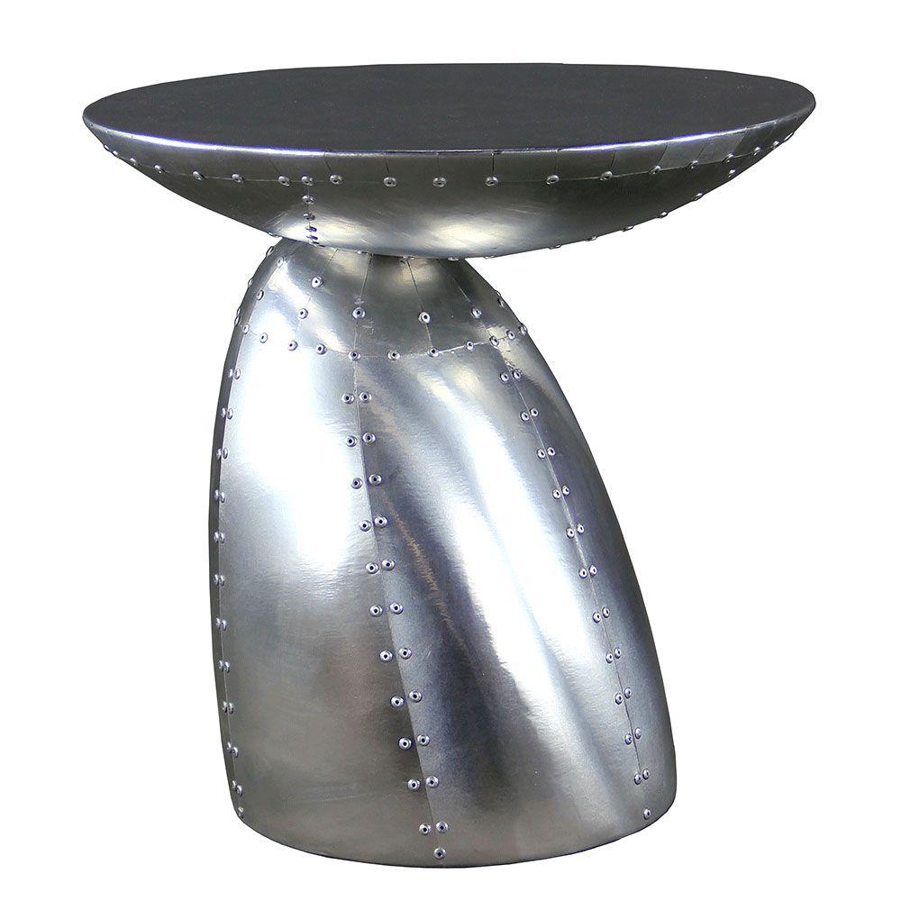 The pilot side table echos aviation furniture made from aircraft the pilot side table echos aviation furniture made from aircraft parts using riveted aluminium or geotapseo Choice Image