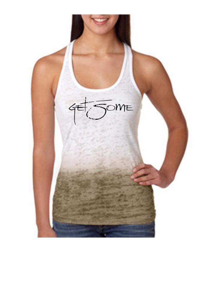 986961d9a9ec4 Ladies GET SOME Poly-Cotton Ombre Burnout Razor Tank