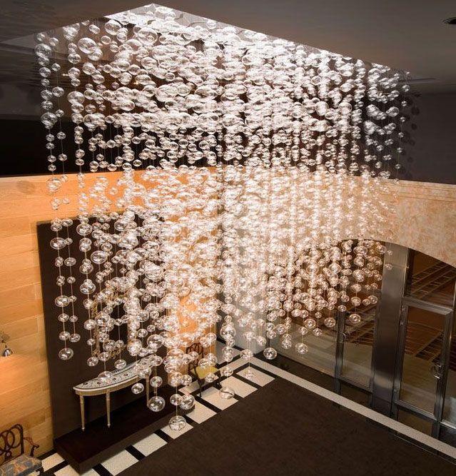 Usando cristal de murano se ilumina de belleza la bodegas alion en espa a design - Lamparas de bodega ...