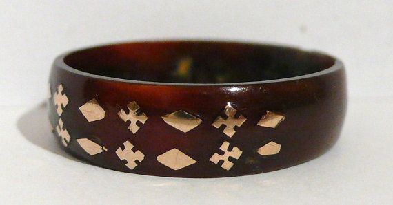 Rare Antique Victorian Tortoiseshell Pique Ring  by SRPAntiques, £65.00