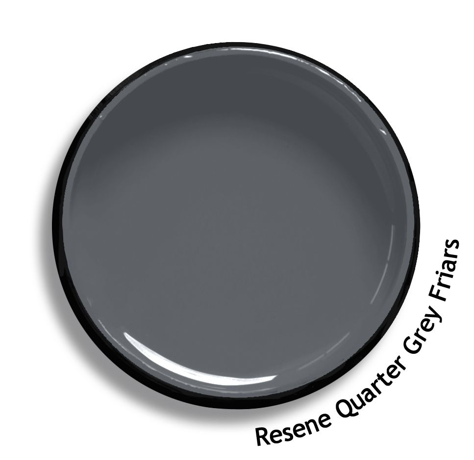 The most daring colour trend in years black habitat by resene - Resene Quarter Grey Friars Is A Mid Toned Flannel Grey Smartly Urbane From The