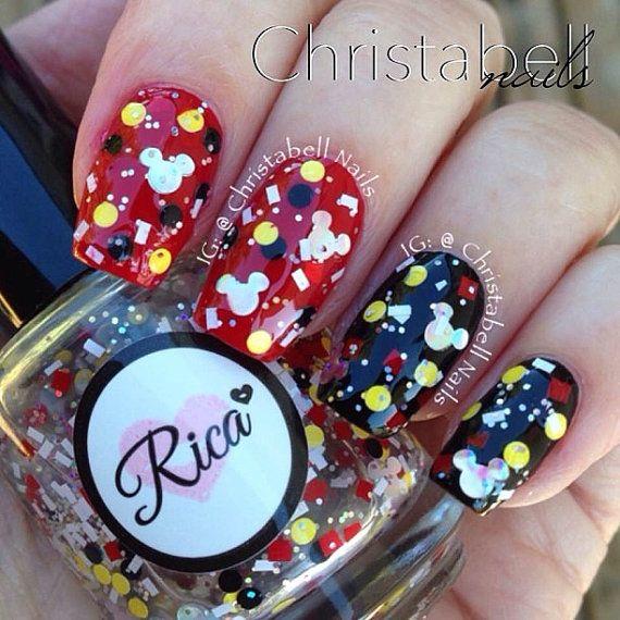 Real Girls Wear Mickey Ears (custom hand crafted nail polish ...