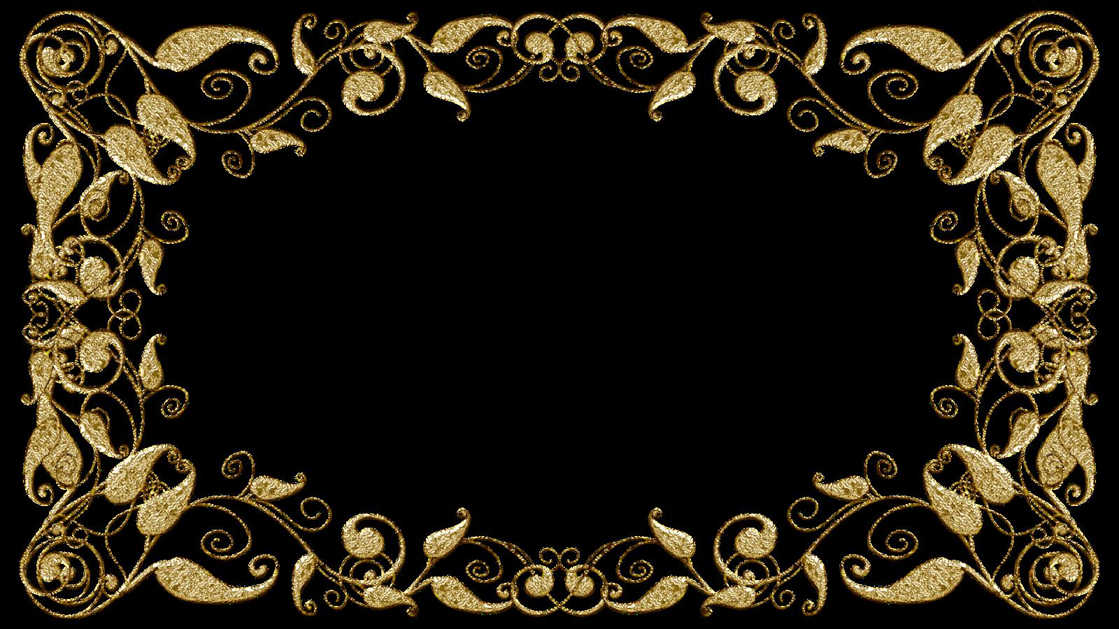 Molduras Com Arabescos Dourados Arabescos Para Convites