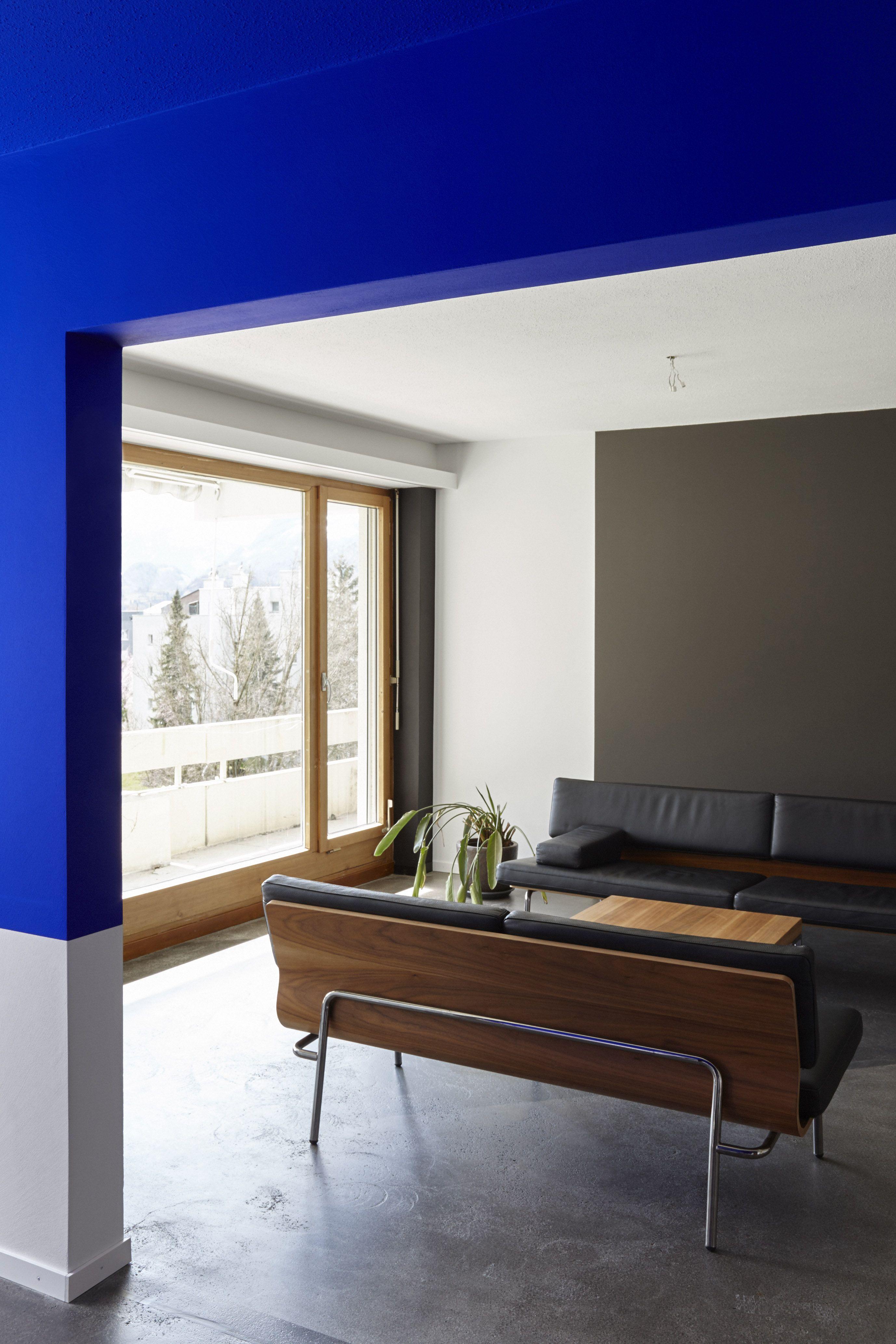Schwefel Blue Interior Design Blue Room Paint African Decor Living Room Minimalist blue room paint