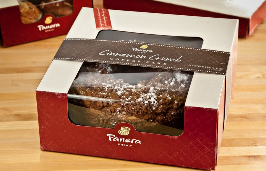 Panera Bread Coffee Box Captivating Mitre Agency  Panera Bread  Packaging Cinnamon Crunch  Mitre Design Ideas