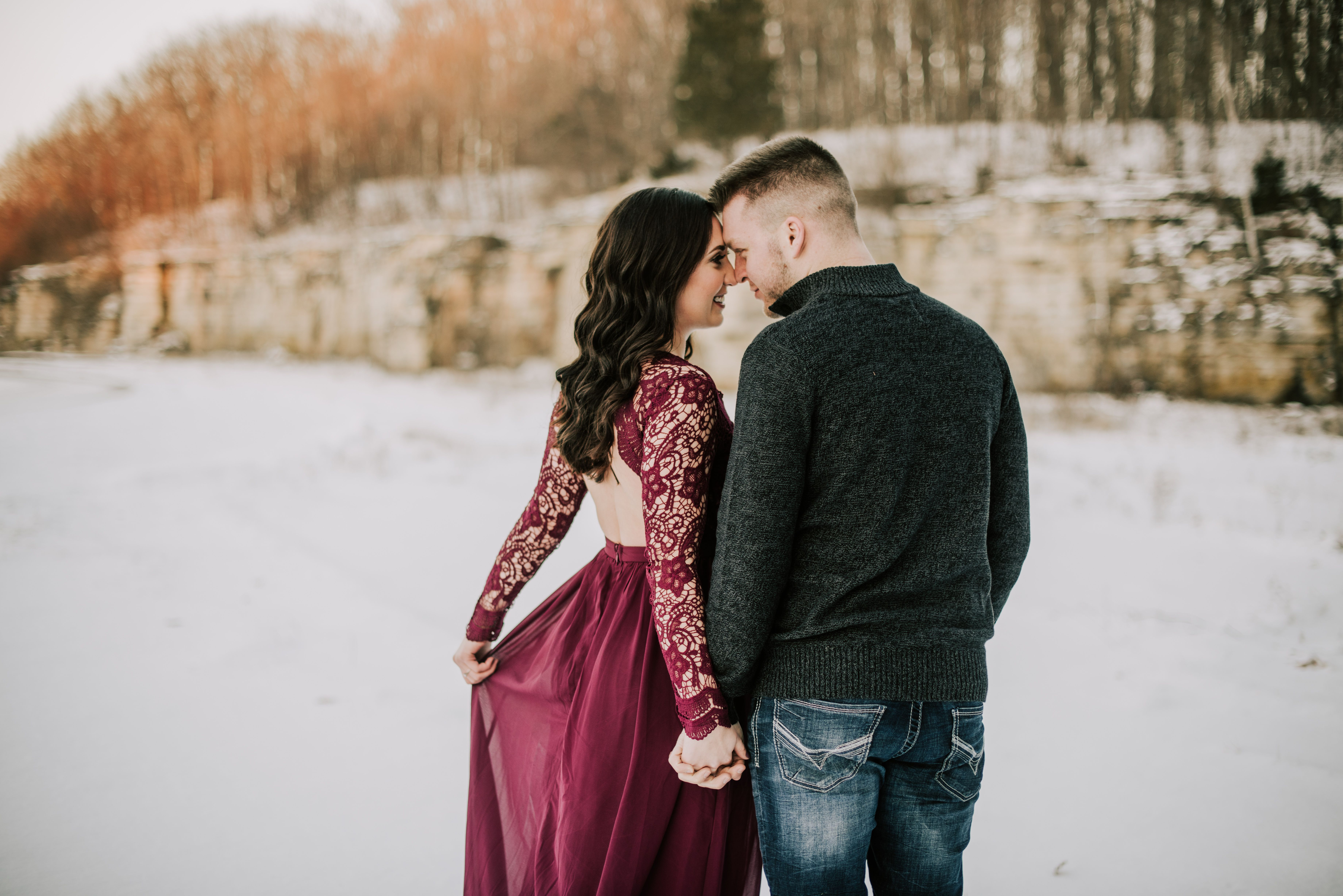 Awaken My Love Dusty Lavender Long Sleeve Lace Maxi Dress Engagement Photo Dress Engagement Picture Outfits Dresses For Engagement Pictures [ 4912 x 7360 Pixel ]