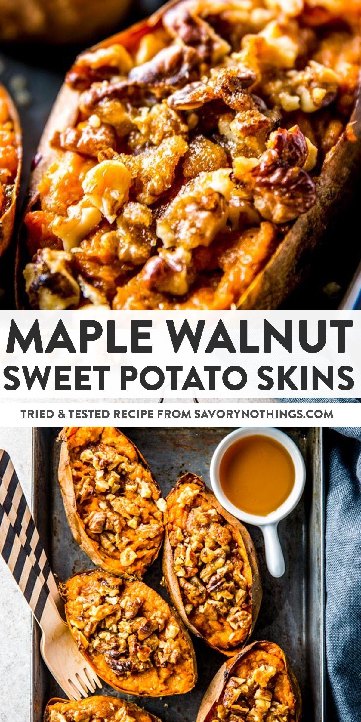 Maple Walnut Sweet Potato Skins