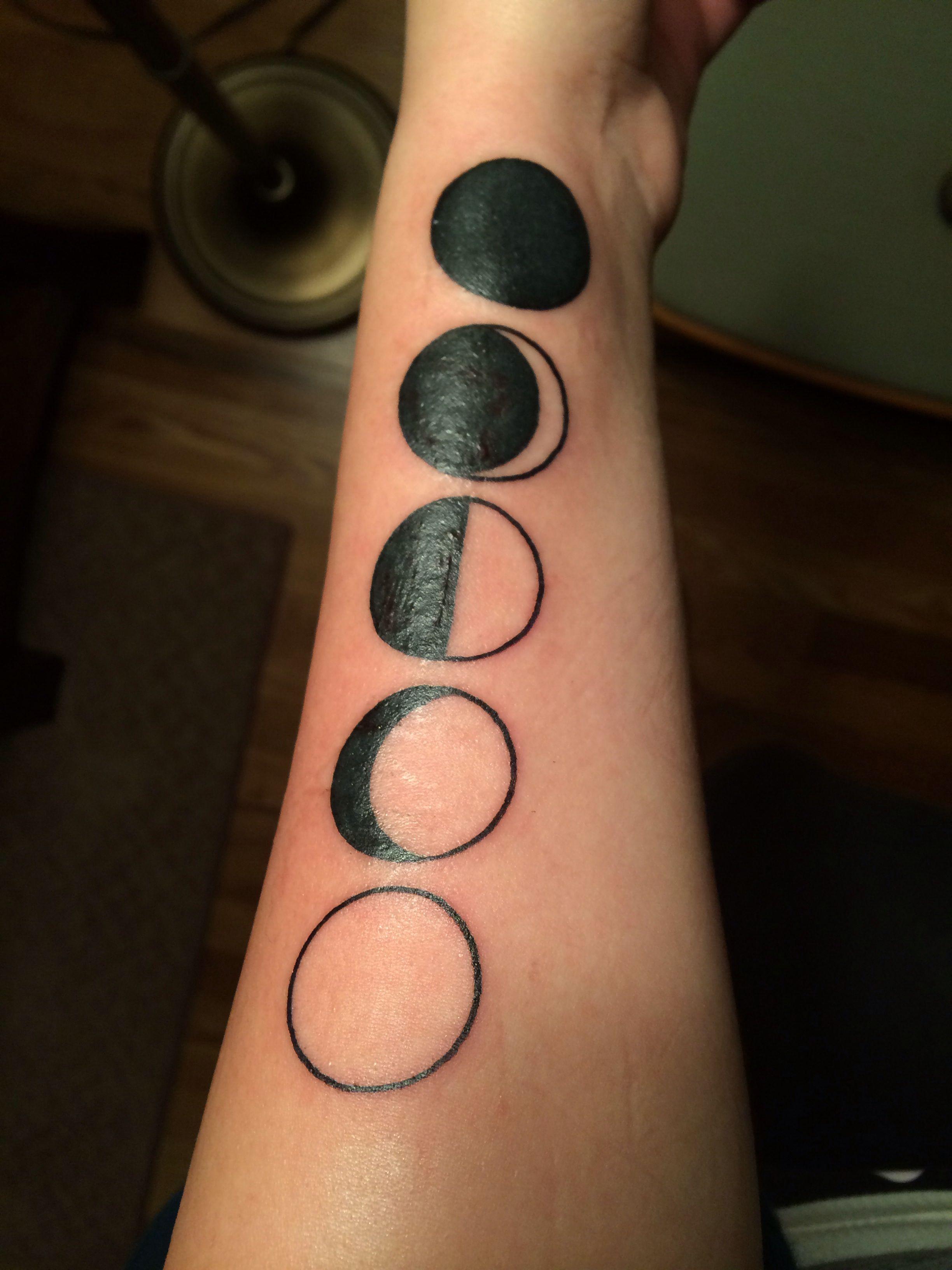 Moon phase tattoo   Tattoos   Tattoos, Fish tattoos, Ink