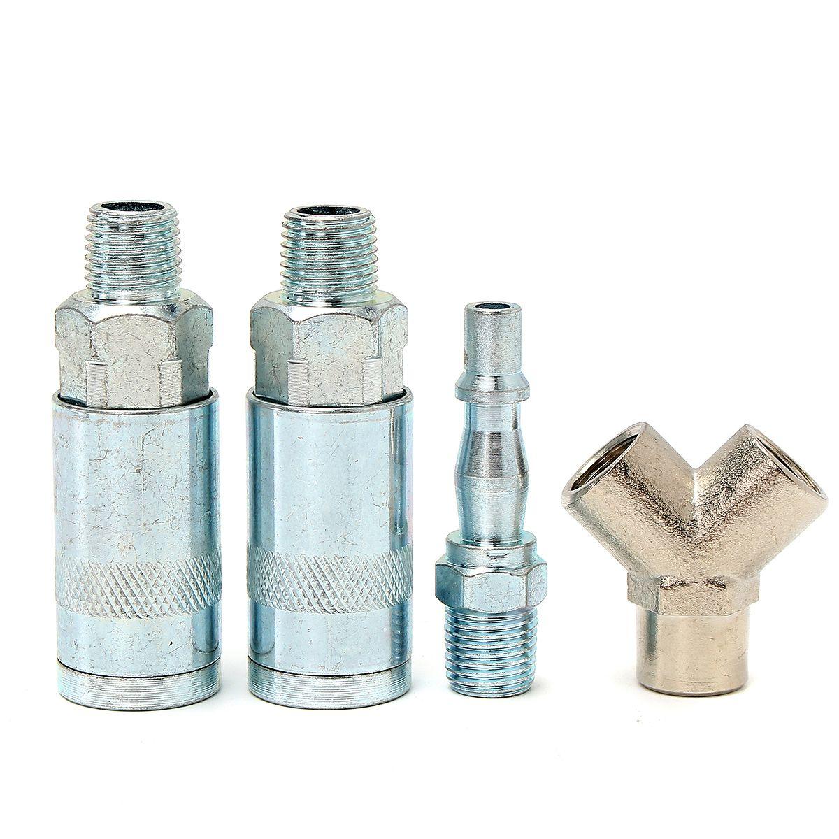 3 vías de liberación rápida adaptador 1/4 Inch BSP línea