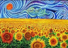 Dibujos De Campos De Girasoles Buscar Con Google Campo De Girasoles Girasoles De Van Gogh Girasoles