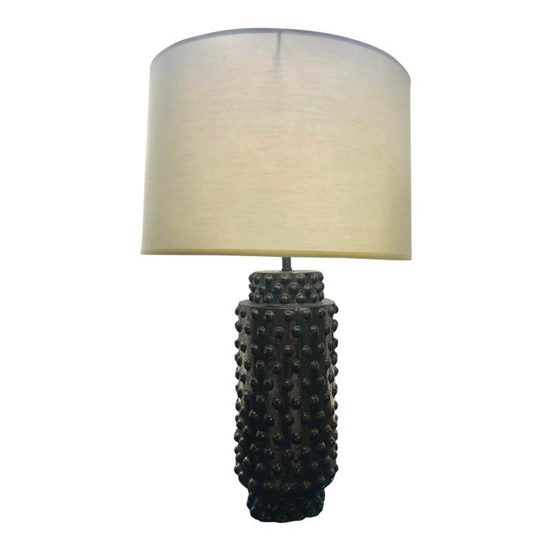 Robert Abbey Dolly Midnight Blue Ceramic Table Lamp Ceramic