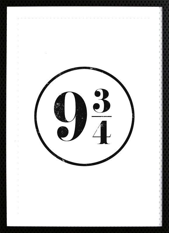 9 3/4 - Mottos von Sinan Saydik - Gerahmtes Poster  - Art -    9 3/4 - Mottos von Sinan Saydik