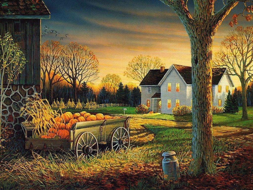 Fall scenes wallpaper and screensavers autumn wagon - Pics of fall scenes ...