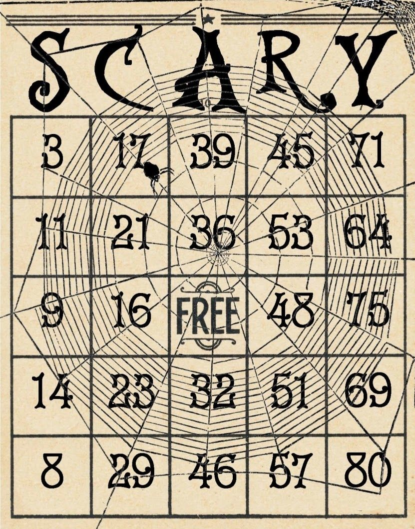 picture relating to Printable Halloween Bingo Card identified as Pin upon Getaway Playing cards - HALLOWEEN