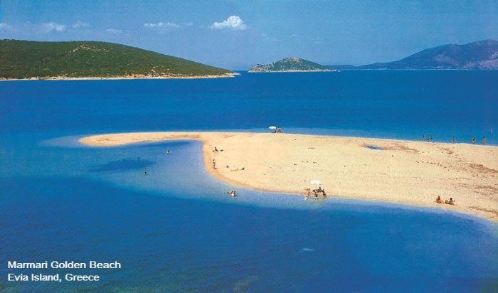 marmari Golden beach .